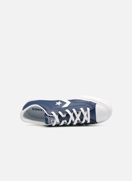 Baskets Converse Star Player Leather Essentials Ox Bleu vue gauche