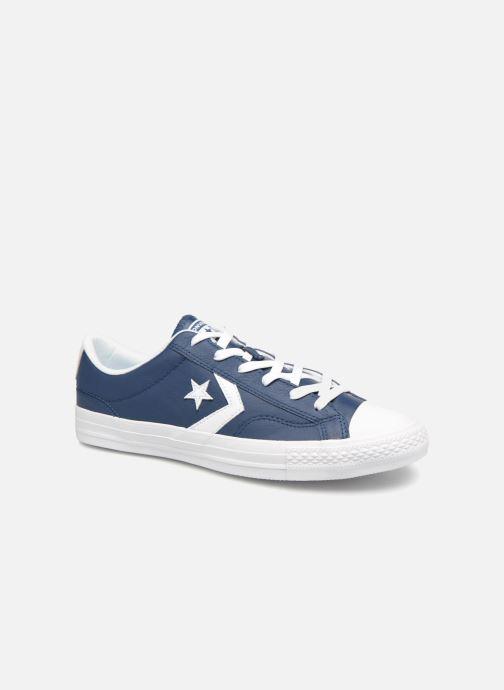 Baskets Converse Star Player Leather Essentials Ox Bleu vue détail/paire