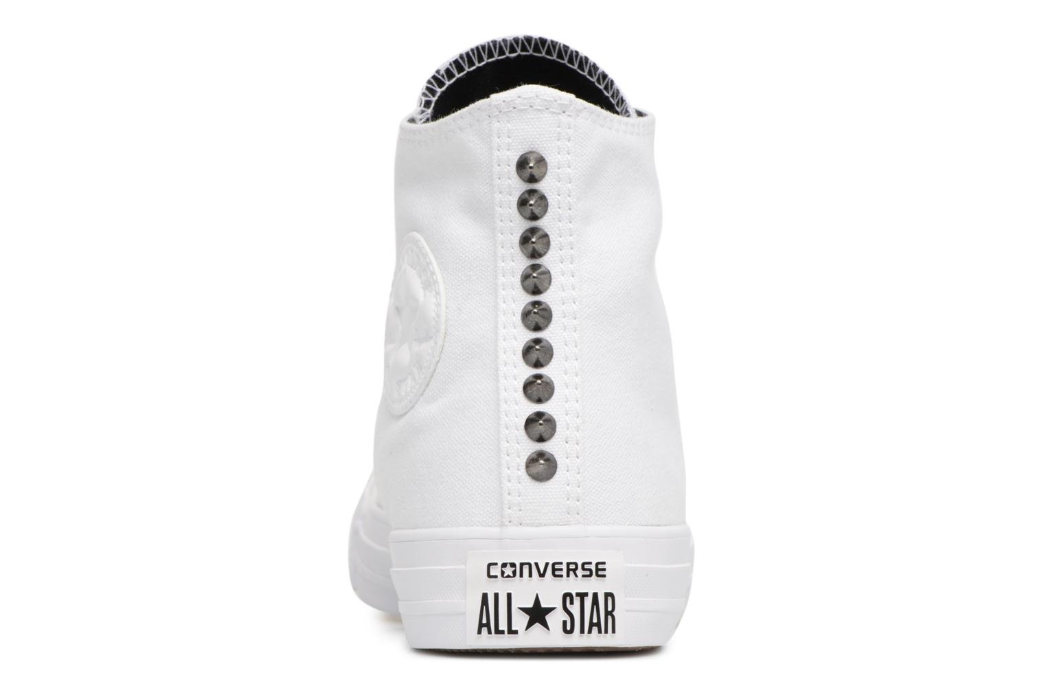 Baskets Converse Chuck Taylor All Star Canvas + Studs Hi Blanc vue droite