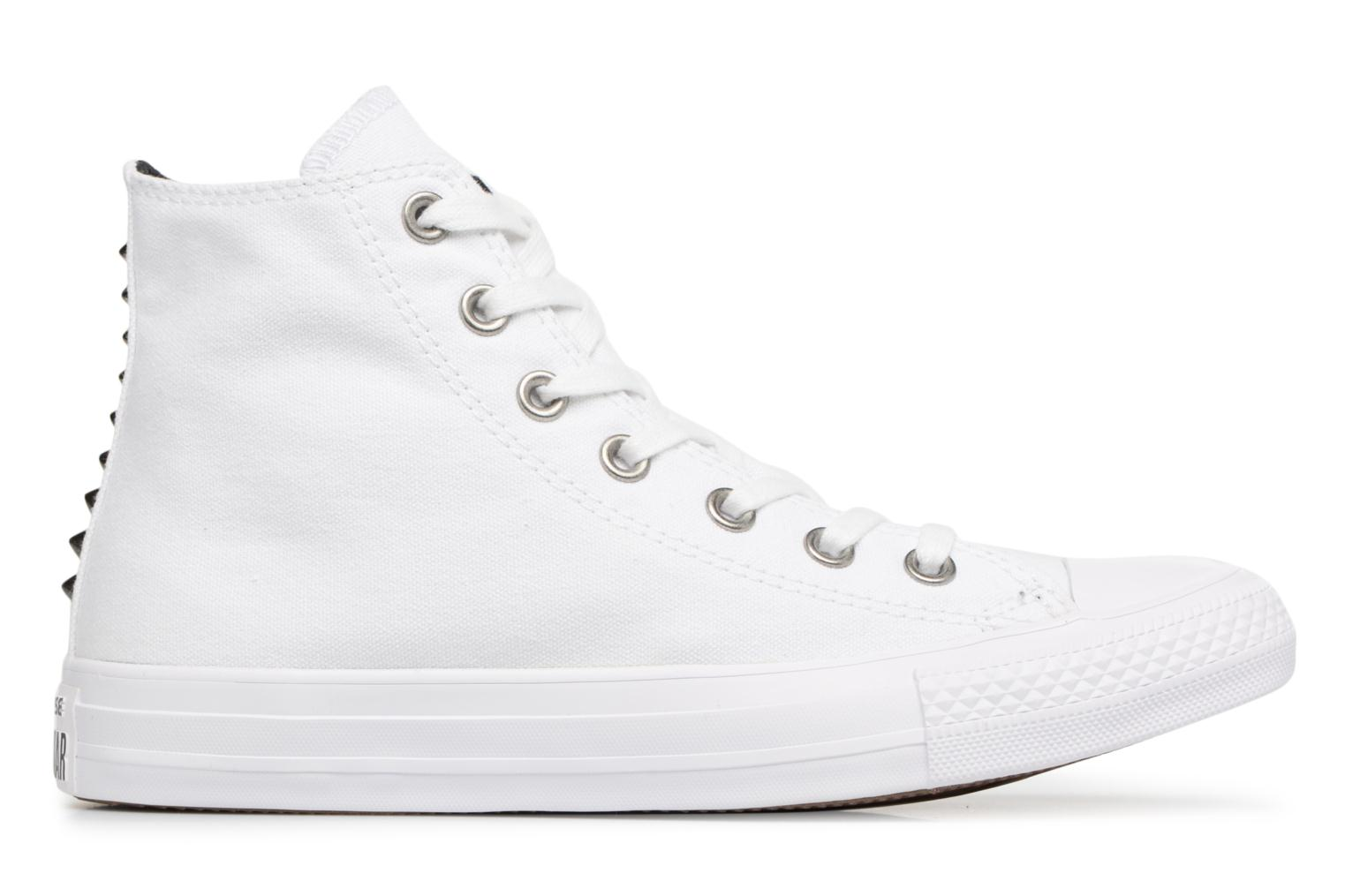Baskets Converse Chuck Taylor All Star Canvas + Studs Hi Blanc vue derrière