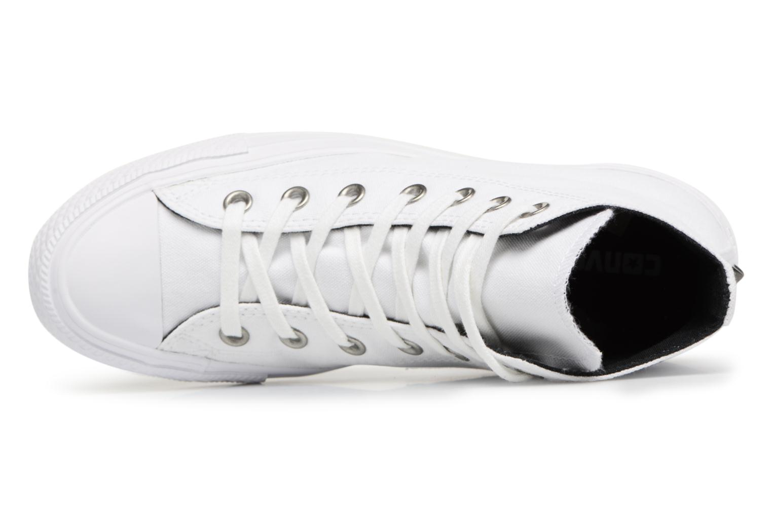Baskets Converse Chuck Taylor All Star Canvas + Studs Hi Blanc vue gauche