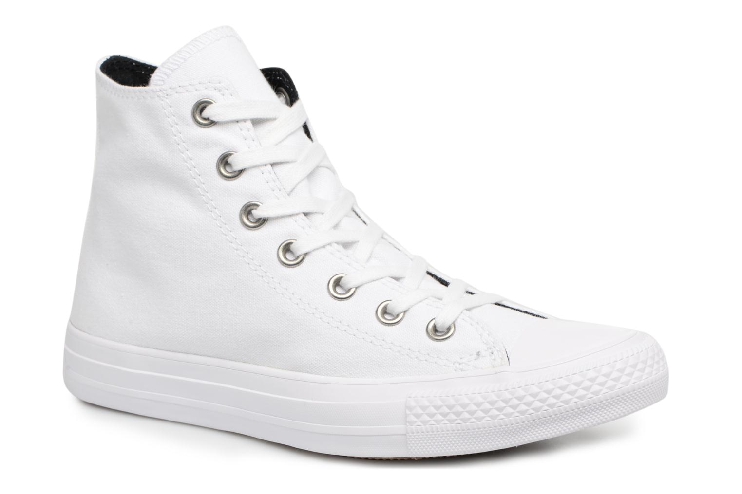 Baskets Converse Chuck Taylor All Star Canvas + Studs Hi Blanc vue détail/paire