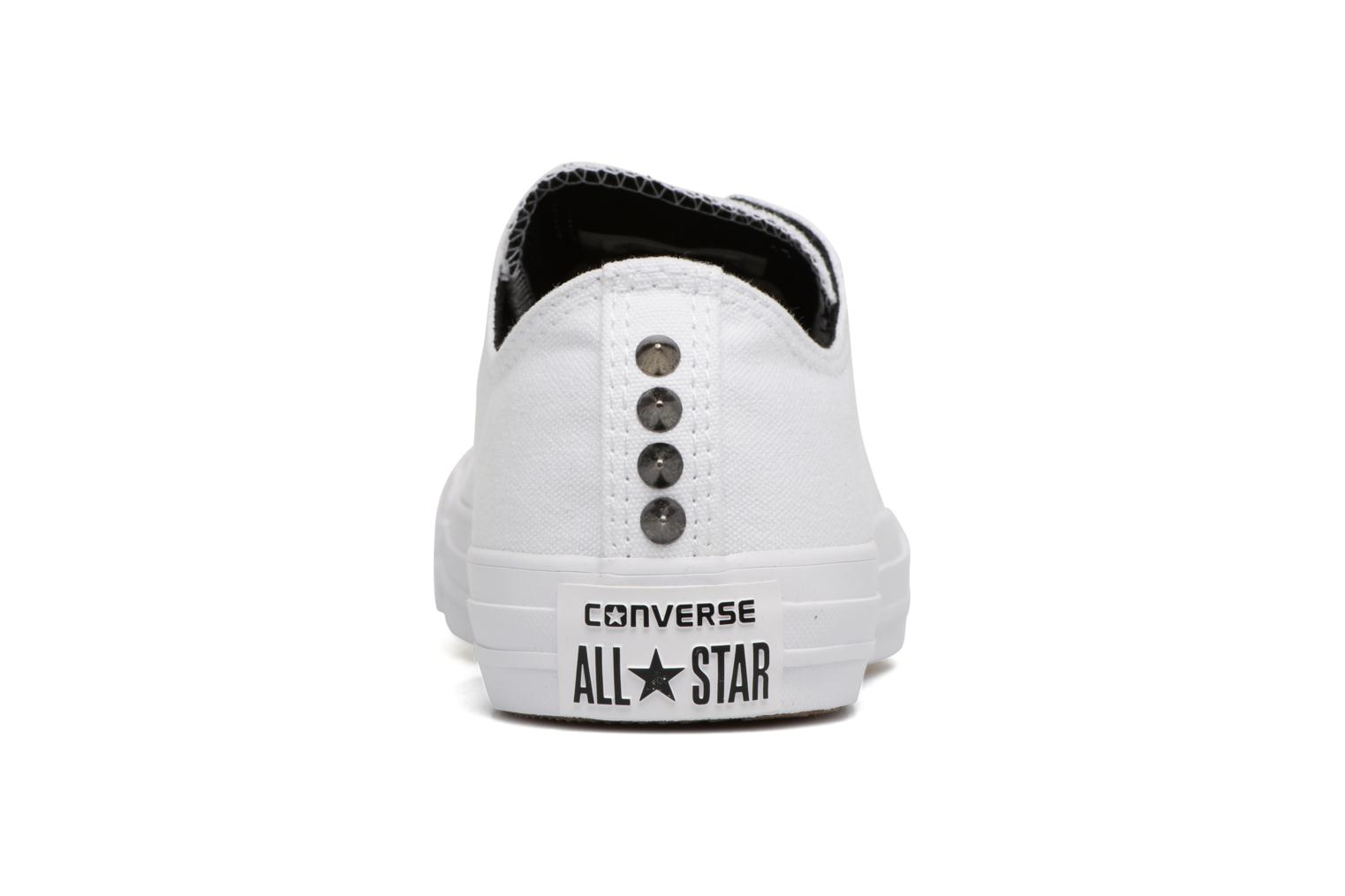 Baskets Converse Chuck Taylor All Star Canvas + Studs Ox Blanc vue droite