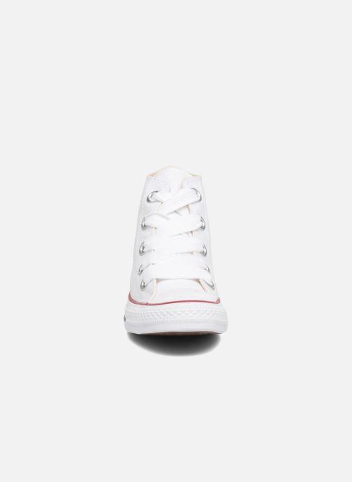 Baskets Converse Chuck Taylor All Star Big Eyelets Canvas Hi Blanc vue portées chaussures