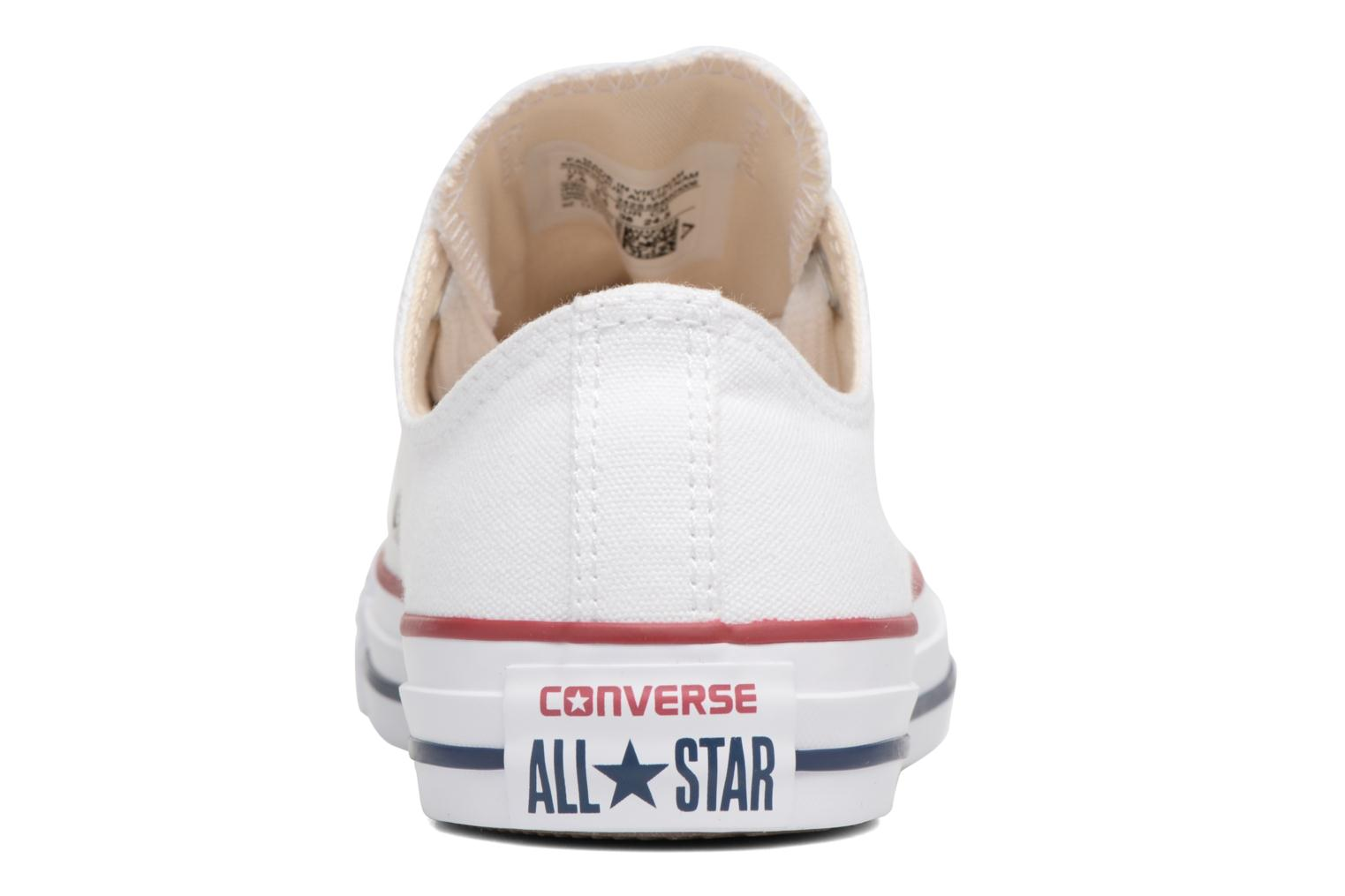 Baskets Converse Chuck Taylor All Star Big Eyelets Ox Blanc vue droite