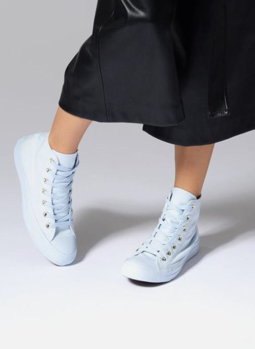 Trainers Converse Chuck Taylor All Star Mono Glam Canvas Color Hi W White view from underneath / model view