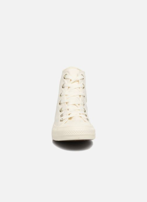 Baskets Converse Chuck Taylor All Star Mono Glam Canvas Color Hi W Blanc vue portées chaussures
