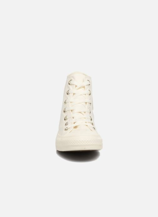 Baskets Converse Chuck Taylor All Star Mono Glam Canvas Color Hi W Blanc vue portées chaussures