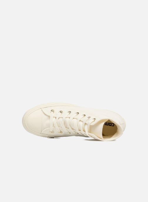 Baskets Converse Chuck Taylor All Star Mono Glam Canvas Color Hi W Blanc vue gauche