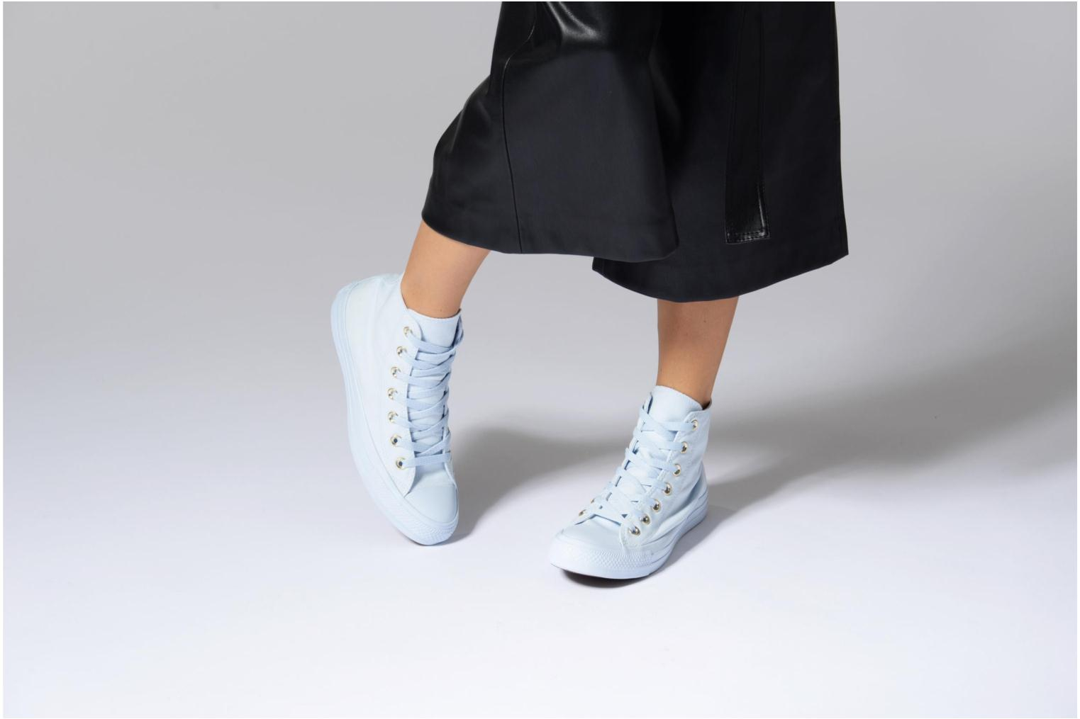 Baskets Converse Chuck Taylor All Star Mono Glam Canvas Color Hi W Bleu vue bas / vue portée sac
