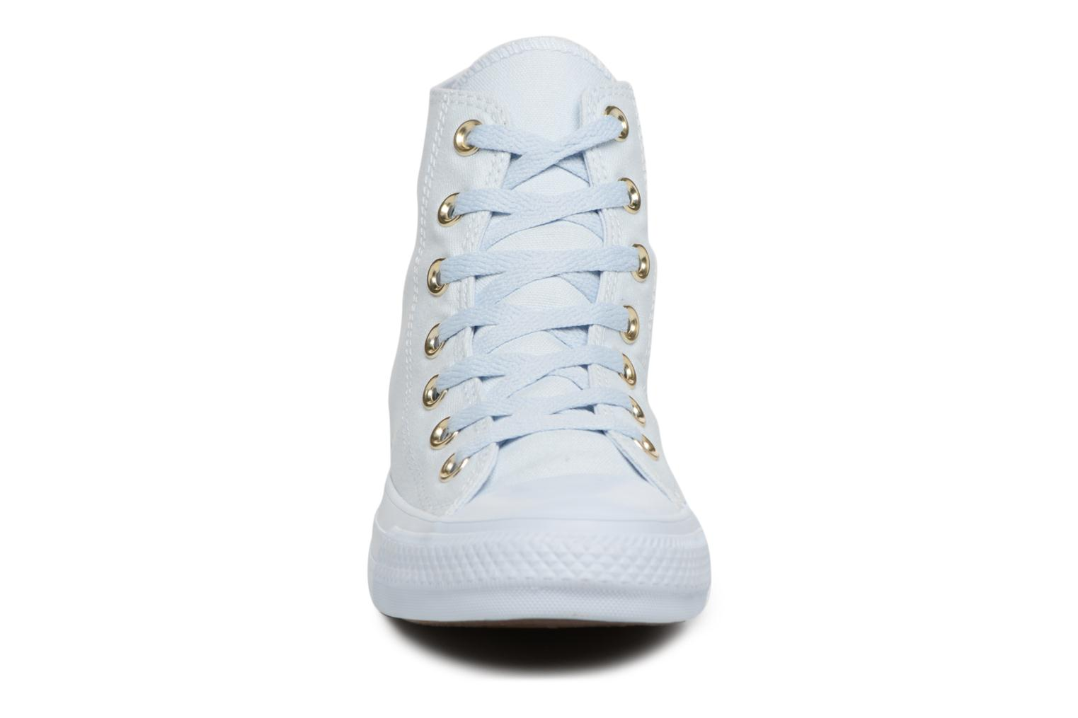 Baskets Converse Chuck Taylor All Star Mono Glam Canvas Color Hi W Bleu vue portées chaussures