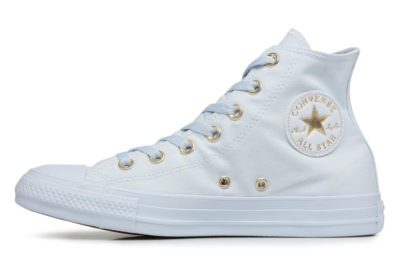 Baskets Converse Chuck Taylor All Star Mono Glam Canvas Color Hi W Bleu vue face