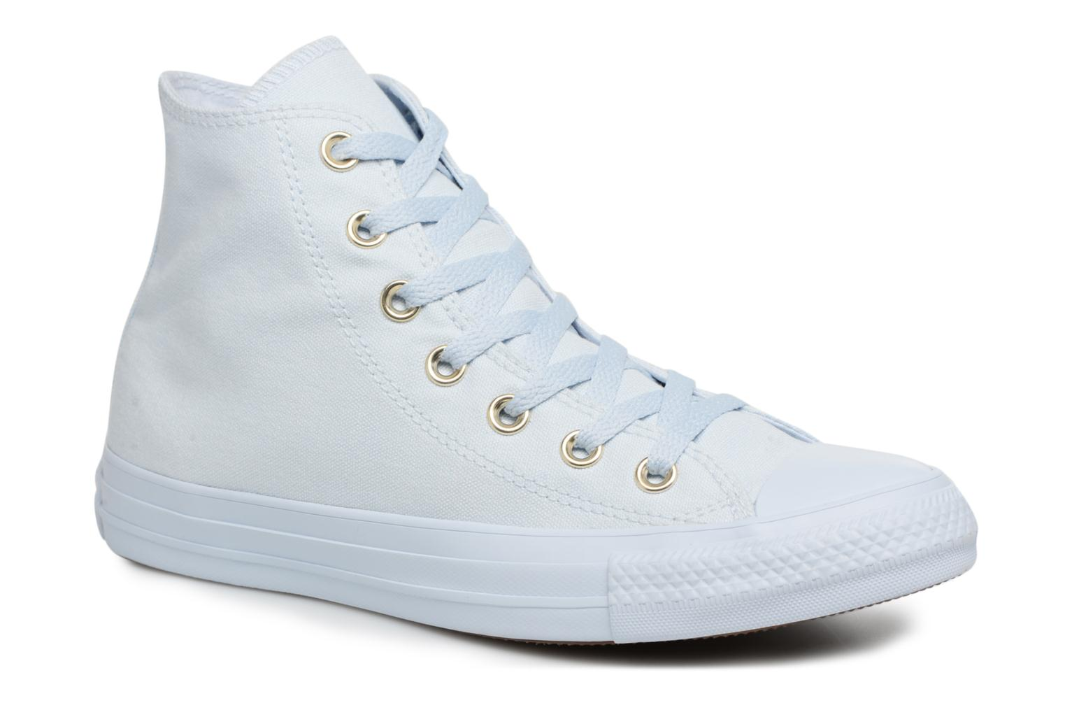 Baskets Converse Chuck Taylor All Star Mono Glam Canvas Color Hi W Bleu vue détail/paire