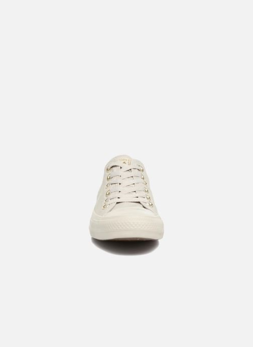 5b8690faced23 Baskets Converse Chuck Taylor All Star Mono Glam Canvas Color Ox W Vert vue  portées chaussures