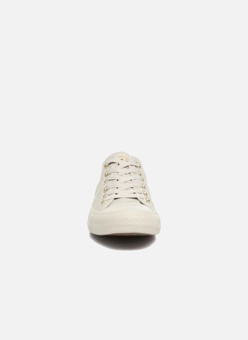 Baskets Converse Chuck Taylor All Star Mono Glam Canvas Color Ox W Vert vue portées chaussures