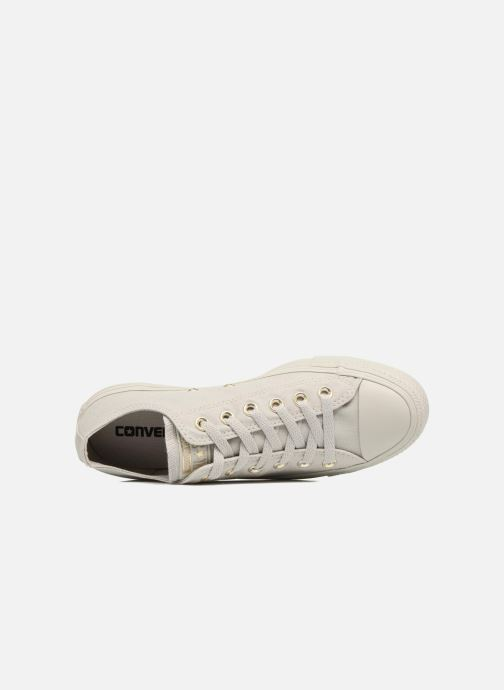 Baskets Converse Chuck Taylor All Star Mono Glam Canvas Color Ox W Vert vue gauche