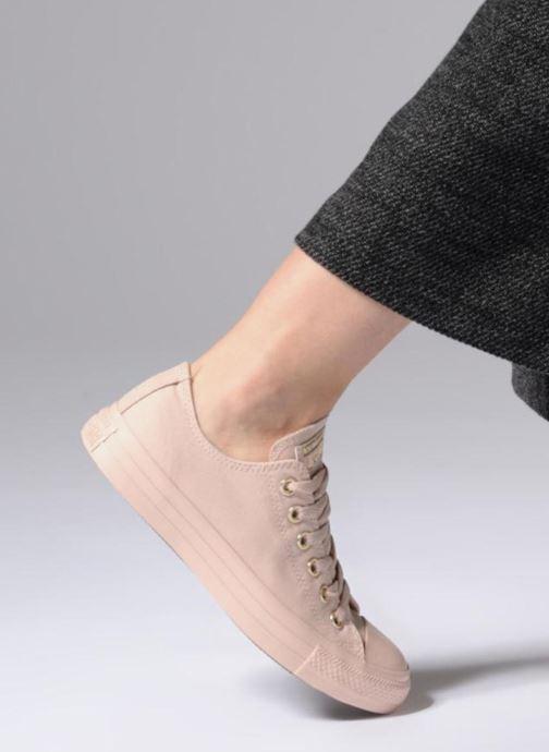 Sneakers Converse Chuck Taylor All Star Mono Glam Canvas Color Ox W Rosa immagine dal basso