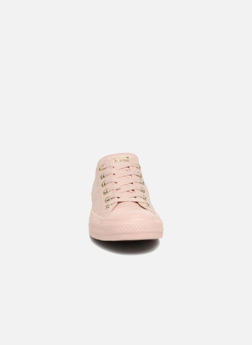 Sneakers Converse Chuck Taylor All Star Mono Glam Canvas Color Ox W Rosa modello indossato