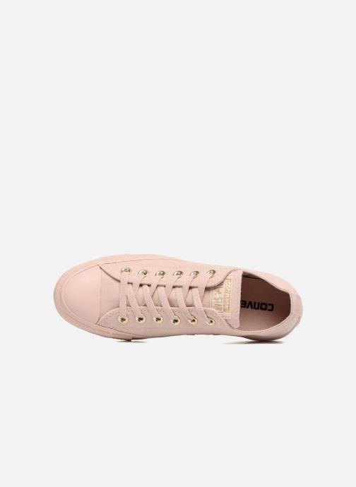 Sneakers Converse Chuck Taylor All Star Mono Glam Canvas Color Ox W Rosa immagine sinistra