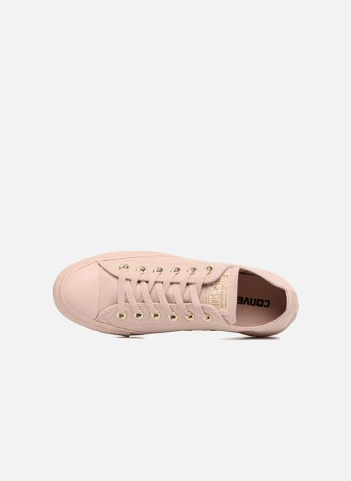 Sneakers Converse Chuck Taylor All Star Mono Glam Canvas Color Ox W Rosa immagine sinistra