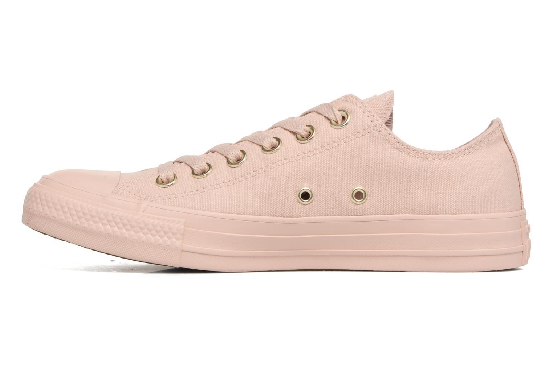 Sneakers Converse Chuck Taylor All Star Mono Glam Canvas Color Ox W Rosa immagine frontale
