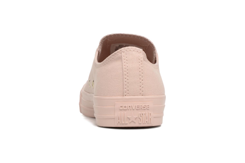 Sneakers Converse Chuck Taylor All Star Mono Glam Canvas Color Ox W Rosa immagine destra