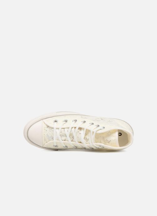 cb94257f31d6 Trainers Converse Chuck Taylor All Star Flower Lace Hi White view from the  left