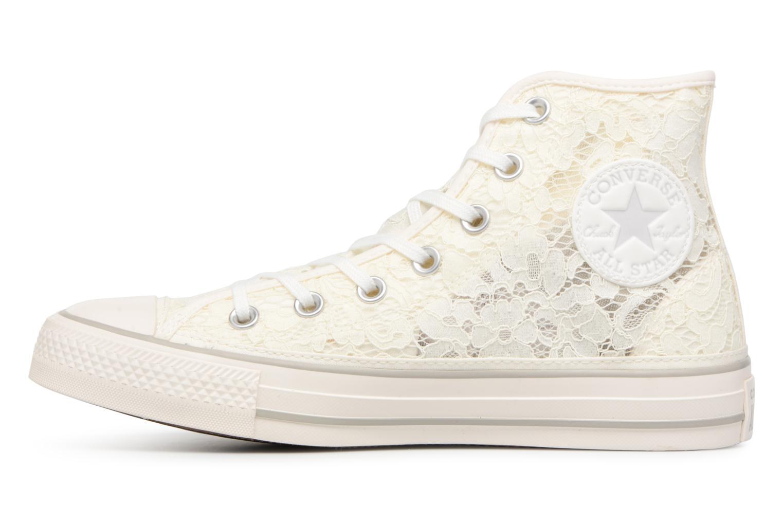 Baskets Converse Chuck Taylor All Star Flower Lace Hi Blanc vue face