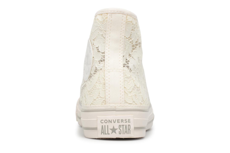 Baskets Converse Chuck Taylor All Star Flower Lace Hi Blanc vue droite