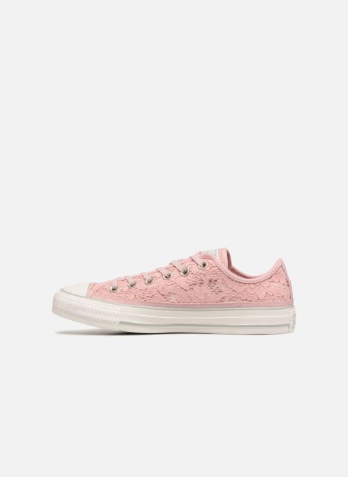 Trainers Converse Chuck Taylor All Star Flower Lace Ox Pink front view