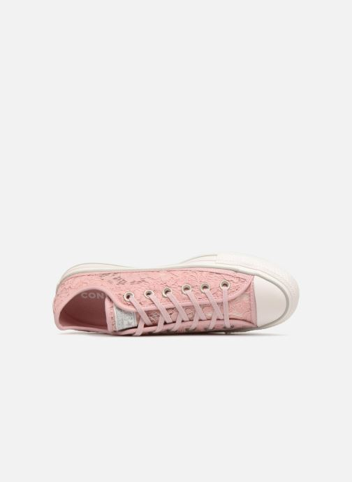 Trainers Converse Chuck Taylor All Star Flower Lace Ox Pink view from the left