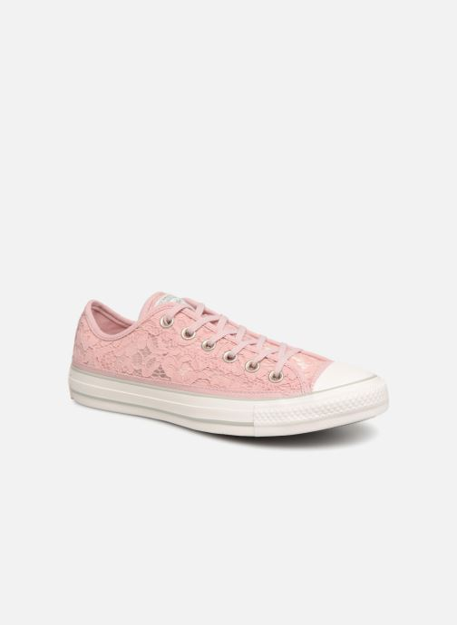 Trainers Converse Chuck Taylor All Star Flower Lace Ox Pink detailed view/ Pair view