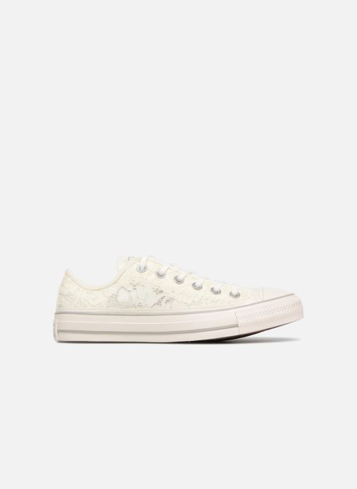 69a8c76cdb11 Trainers Converse Chuck Taylor All Star Flower Lace Ox White back view