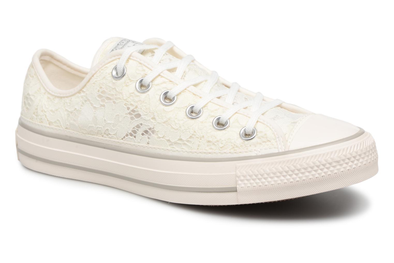 Baskets Converse Chuck Taylor All Star Flower Lace Ox Blanc vue détail/paire