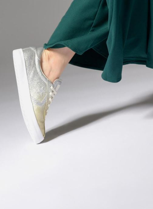 Trainers Converse Breakpoint Ombre Metallic Ox Bronze and Gold view from underneath / model view
