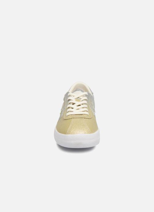 Sneakers Converse Breakpoint Ombre Metallic Ox Oro e bronzo modello indossato