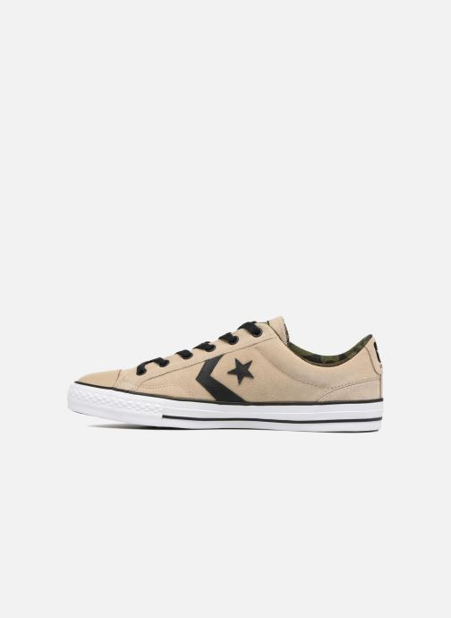 Trainers Converse Star Player Camo Suede Ox Beige front view