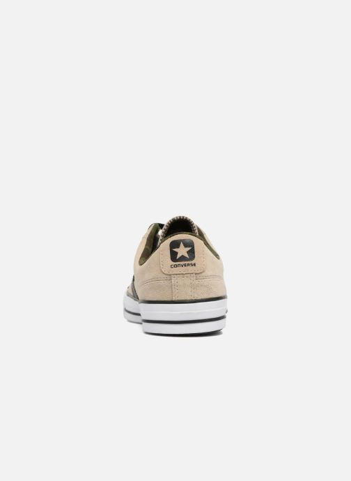 Trainers Converse Star Player Camo Suede Ox Beige view from the right