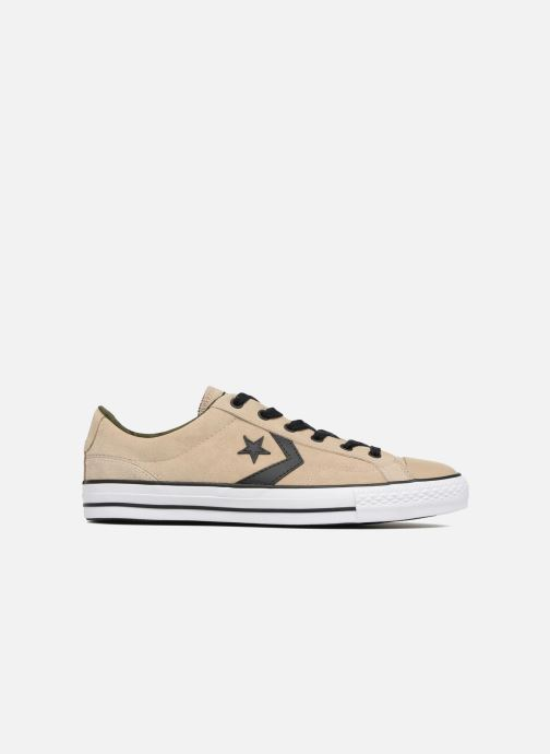 Trainers Converse Star Player Camo Suede Ox Beige back view