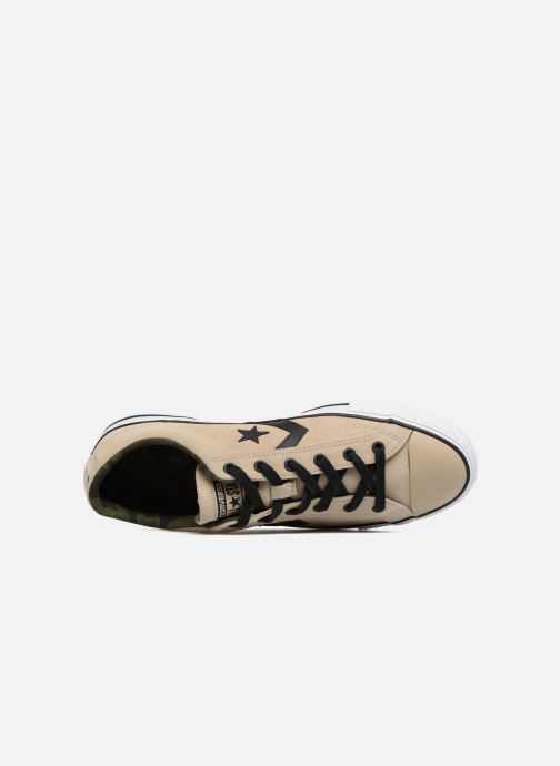 Trainers Converse Star Player Camo Suede Ox Beige view from the left