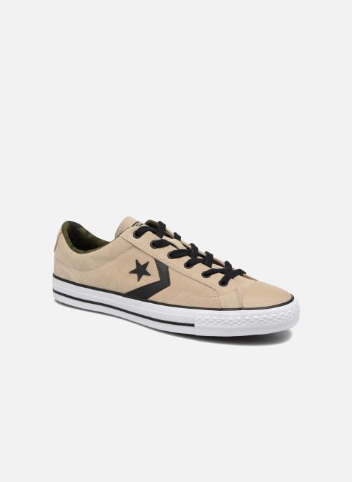 Trainers Converse Star Player Camo Suede Ox Beige detailed view/ Pair view