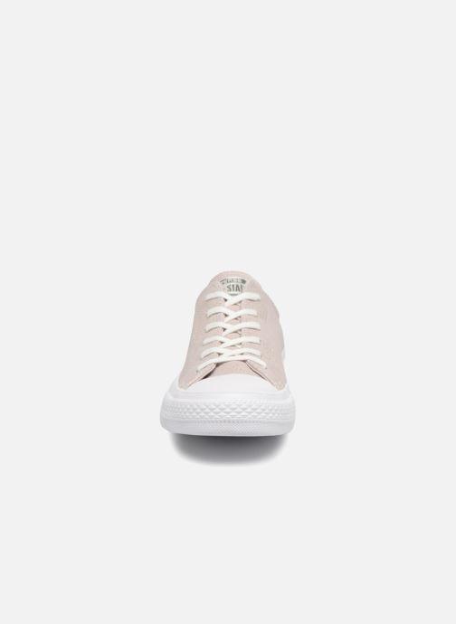 Baskets Converse Chuck Taylor All Star Tipped Metallic Ox Gris vue portées chaussures