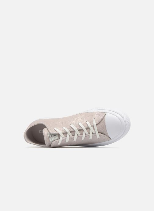 Trainers Converse Chuck Taylor All Star Tipped Metallic Ox Grey view from the left