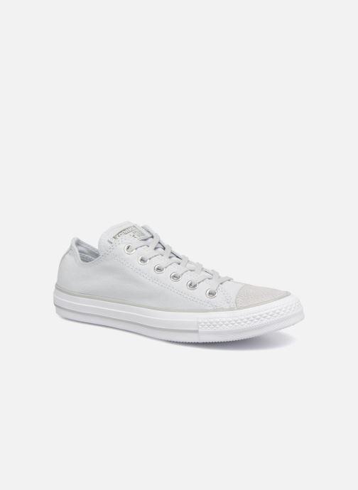 6b5bc13e8f4 Sneakers Converse Chuck Taylor All Star Tipped Metallic Toecap Ox Grijs  detail