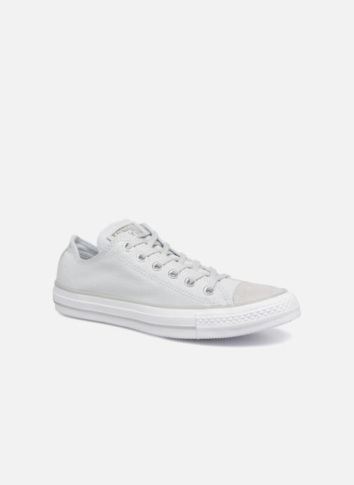 905cf0be11a2b2 Trainers Converse Chuck Taylor All Star Tipped Metallic Toecap Ox Grey  detailed view  Pair view