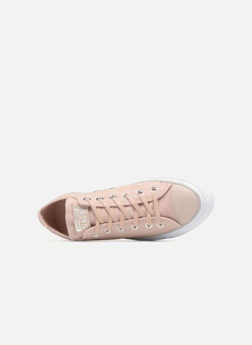 ccd64eb56f5736 Trainers Converse Chuck Taylor All Star Tipped Metallic Toecap Ox Pink view  from the left