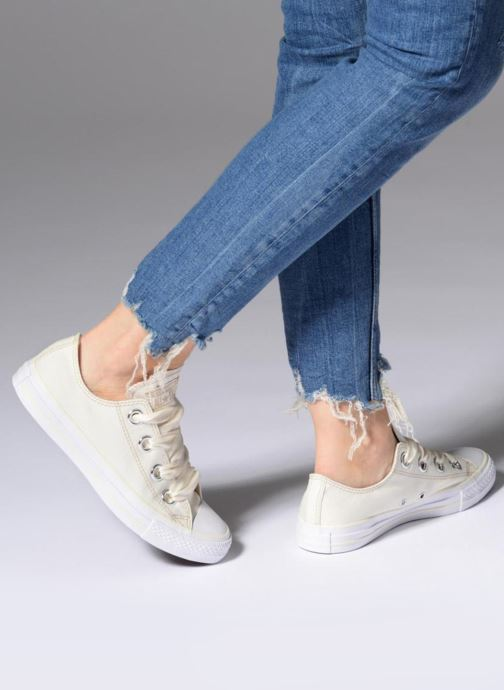 48faba7fab09 Trainers Converse Chuck Taylor All Star Big Eyelets Pastel Canvas Ox White  view from underneath