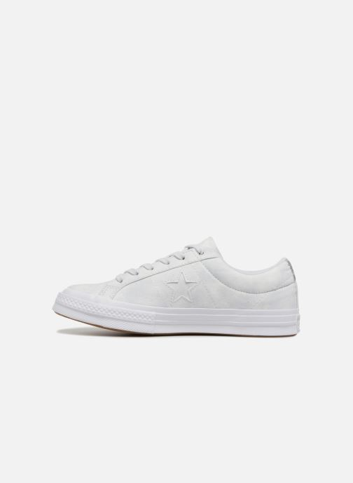Sneakers Converse One Star Peached Wash Ox W Blauw voorkant