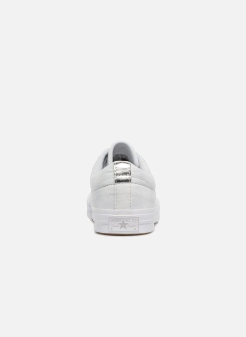Sneakers Converse One Star Peached Wash Ox W Blauw rechts