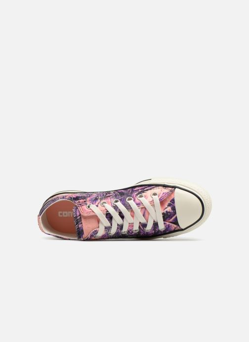 4ebbdfa3ebaa Trainers Converse Chuck Taylor All Star Feather Print Ox Multicolor view  from the left